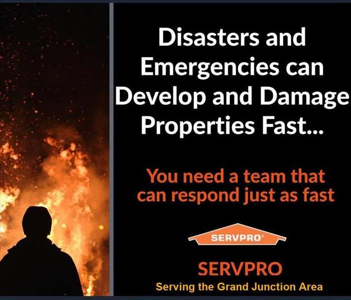 Fire graphic SERVPRO Grand Junction You need a team that responds fast